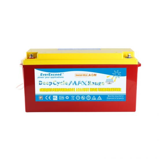 Deep cycle high temperature long service battery